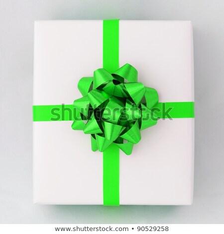 зеленый звездой крест линия лента белый Сток-фото © nuttakit