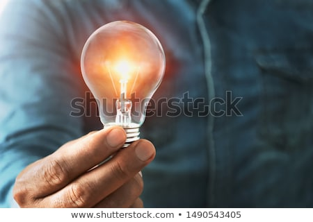 bright idea lightbulb in hand stock photo © backyardproductions