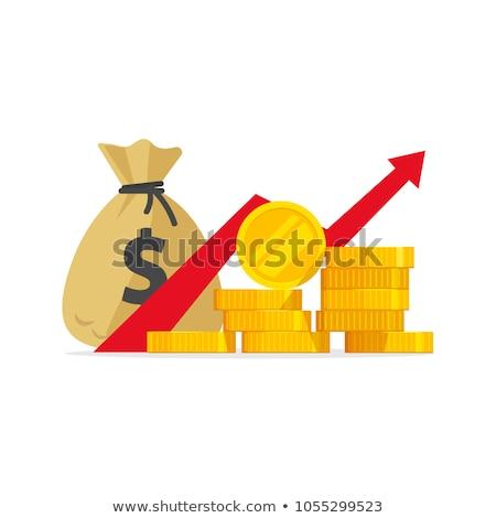 Argent croissance investissements inflation vert Photo stock © iqoncept