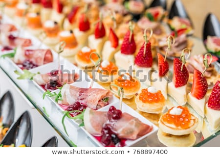 gourmet appetizer Stock photo © M-studio