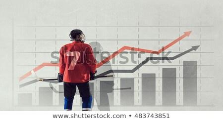Hóquei vara crescimento rápido esportes projeto Foto stock © nikdoorg