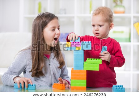 Brother and sister playing quietly Stock photo © photography33