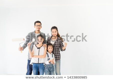 Father daughter ready to renovate house Stock photo © photography33