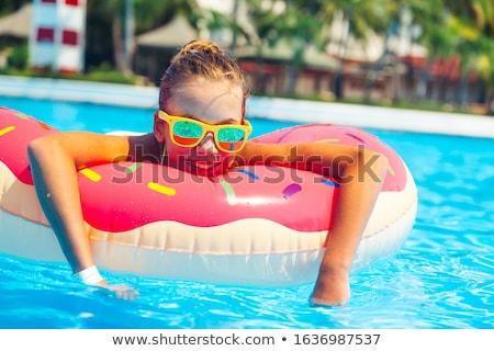 Teen girl at a beach Stock photo © AndreyKr