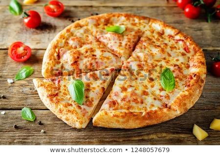 tomato cheese and basil pizza stock photo © m-studio