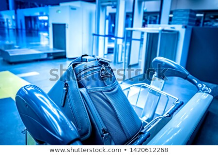 airport security check point luggage carts stock photo © annakazimir