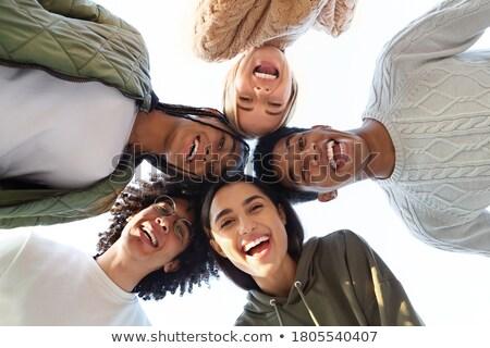Feliz juventude ao ar livre retrato naturalmente Foto stock © lithian