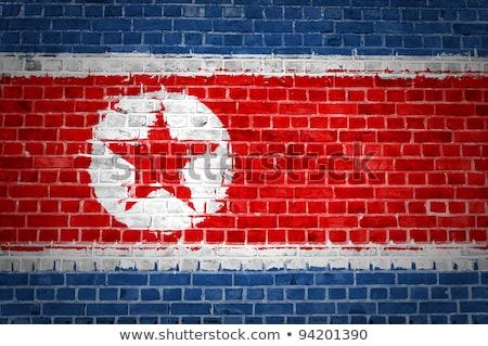 na · północ · banderą · grunge · ilustracja · czerwony - zdjęcia stock © creisinger