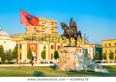 skanderberg statue, tirana, albania Stock photo © travelphotography
