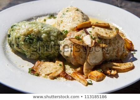 Typical South Tyrolian Dumplings On A Plate Stok fotoğraf © haraldmuc
