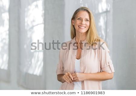 przepiękny · uśmiech · twarz - zdjęcia stock © stryjek
