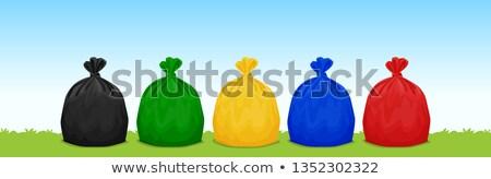 Stok fotoğraf: çanta · siyah · kauçuk · çöp · kutusu