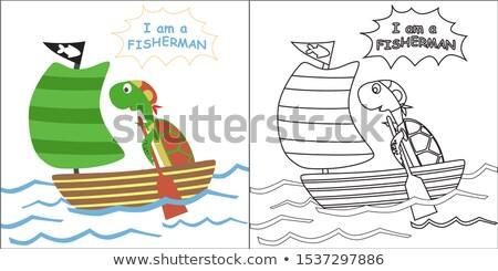 рыбак · удочка · иллюстрация · формат · прибыль · на · акцию - Сток-фото © rastudio