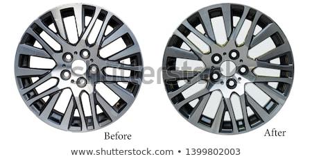 coche · aluminio · rueda · aislado · blanco - foto stock © maxpro