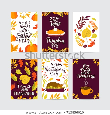 Christmas Menu Banner Card with hand drawn lettering Stock photo © fenton