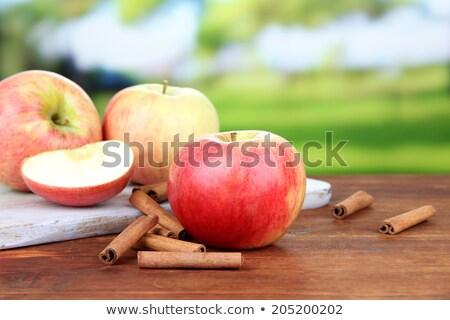 almák · diók · fahéj · szürke · természet · piros - stock fotó © justinb