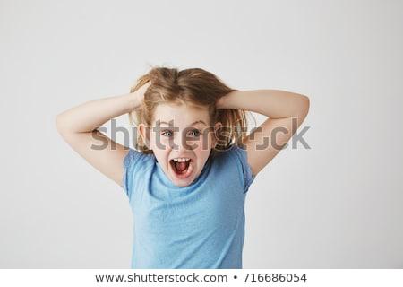 興奮した 女の子 少女 顔 教育 ジャンプ ストックフォト © photography33