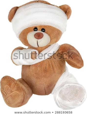 Ongeval teddy zwachtel geneeskunde triest speelgoed Stockfoto © godfer