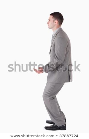 küszködik · üzletember · lökés · külön · fitt · férfi - stock fotó © wavebreak_media