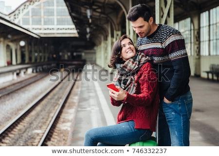 woman on the railway  Stock photo © grafvision
