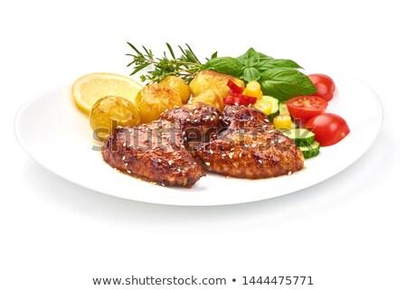 куриные · картофель · пластина · еды · блюдо - Сток-фото © photocrea