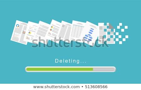 dokumentu · 3D · świadczonych · ilustracja · odizolowany · biały - zdjęcia stock © blamb