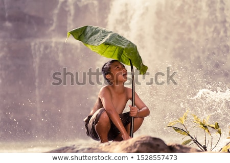 Boy at the River stock photo © 2tun
