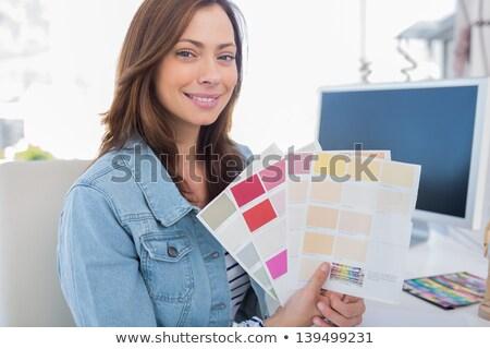 atraente · decorador · cor - foto stock © wavebreak_media