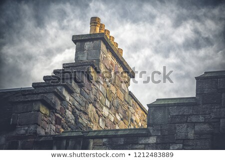 Edinburgh · panorama · budynku · zamek · Hill · Szkocji - zdjęcia stock © bertl123