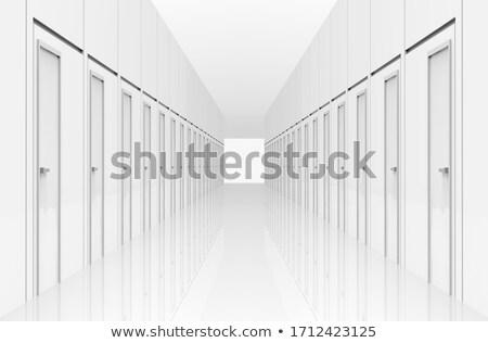 Długo korytarzu szpitala świetle Afryki drzwi Zdjęcia stock © dirkr