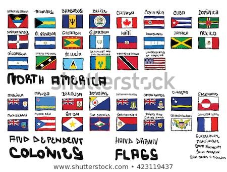 Bandeira Jamaica mão cor país estilo Foto stock © claudiodivizia