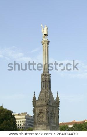 Estatua Madrid España ciudad océano gótico Foto stock © Bertl123