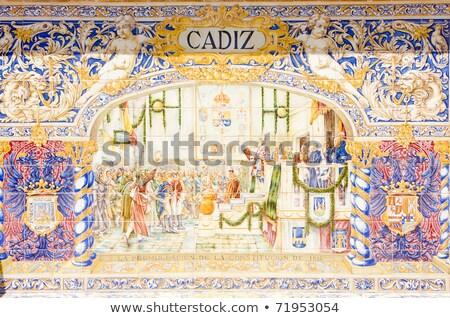 Detail of Palacio Espanol in Plaza de Espana, Seville Stock photo © aladin66