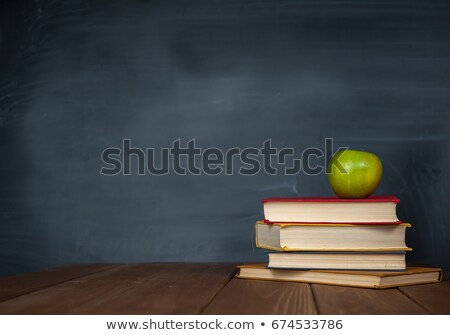 Stock photo: pencil drawing on green chalkboard