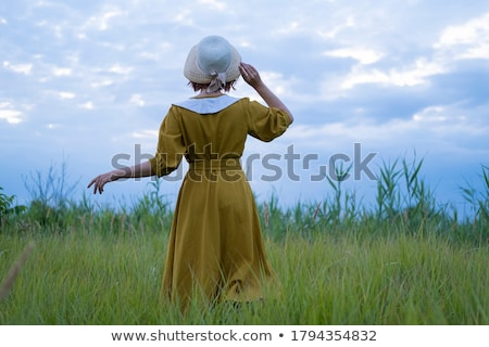 retro styled woman Stock photo © chesterf