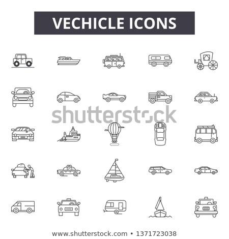 Voertuigen boot icon vervoer auto Stockfoto © radivoje
