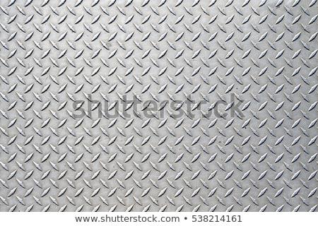 Foto stock: Diamantes · placa · textura · de · metal · enorme · hoja · metal