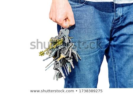 Key on Blue Jeans - Access stock photo © tainasohlman