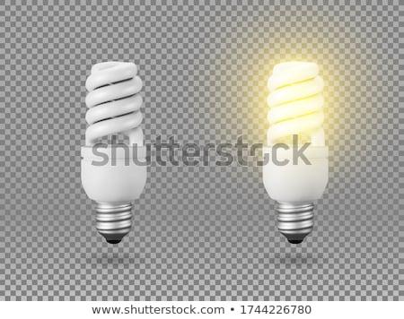 エネルギー · 電球 · 白 · 孤立した · 3D - ストックフォト © iserg