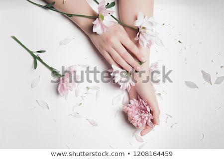 女性 手 花 花 テクスチャ ストックフォト © dukibu