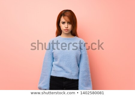 depressed crying young redhead woman Stock photo © Rob_Stark