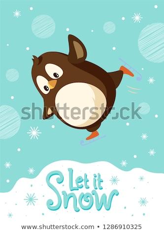ペンギン 氷 鳥 冬 楽しい ストックフォト © paulfleet