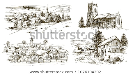 Landscape view of an English church Stock photo © jayfish