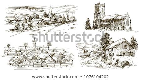 Landscape view of an English church Stock photo © jayfish