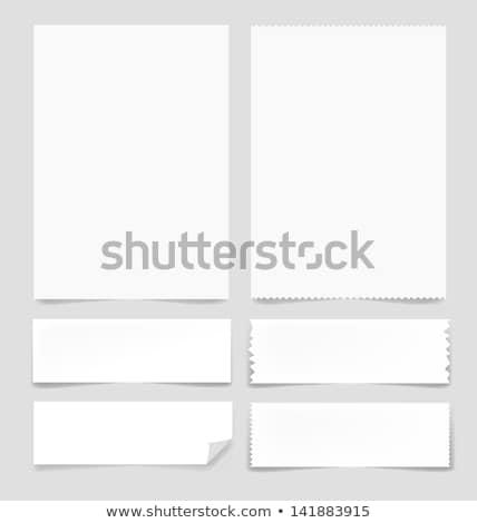 Strappato bianco carta verde abstract design Foto d'archivio © Grazvydas