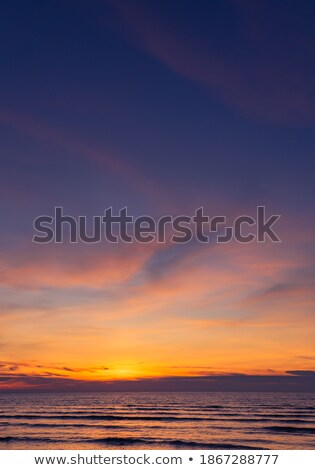 темно небе сумерки вертикальный морской пейзаж Сток-фото © pzaxe