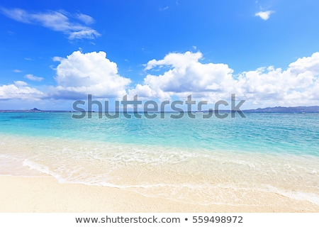 Sea and clouds in Okinawa stock photo © shihina