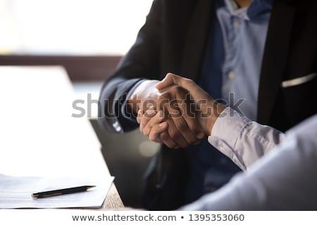aperto · de · mão · dois · empresários · isolado · branco - foto stock © dgilder