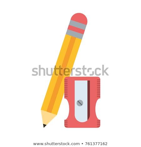карандашом точилка Eraser 3D генерируется фотография Сток-фото © flipfine