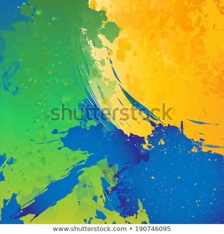 Futebol Brasil cores grunge salpico colorido Foto stock © bharat